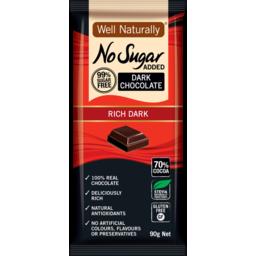 Photo of Well Naturally Nsa Dark Chocolate Rich Dark 90g