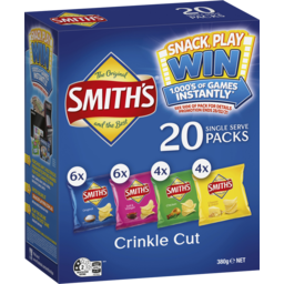 Photo of Smith's Crinkle Cut Variety Potato Chips 20 Pack