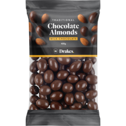 Photo of Drakes Milk Chocolate Almonds 400g