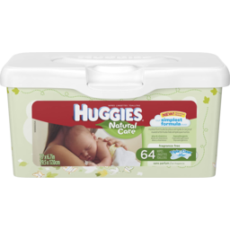 Photo of Huggies Natural Care Fragrance Free Wipe