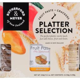 Photo of Rutherford & Meyer New Zealand Platter Starter Pack Mango Fp / Natural Rw / Rock Salt Sg 340g