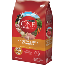 Photo of Purina One Dry Dog Food, Smartblend, Adult, Chicken & Rice 3.6kg