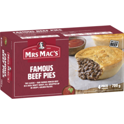 Photo of Mrs Macs Beef Pies 4pk 840g