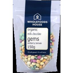 Photo of Wholefoods House Chocolate Gems Milk 150g