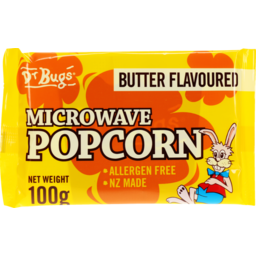 Photo of Dr Bugs Buttered Microwave Popcorn 100g