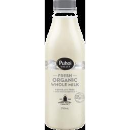 Photo of Puhoi Valley Organic Milk Non Homogenised 750ml