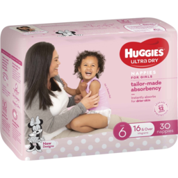 Photo of Huggies Nappies Ultra Dry Bulk Junior Girl Size 6 - 16kg & Over 30 Pack