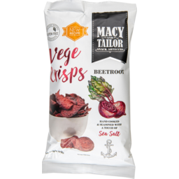 Photo of Macy And Tailor Vege Crisps Beetroot With A Touch Of Sea Salt 90g
