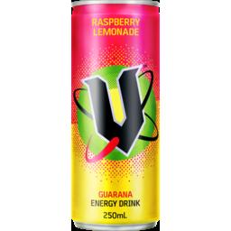 Photo of V Energy Drink Raspberry Lemonade 250ml Can