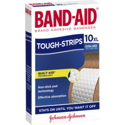 Photo of Band-Aid Tough Strips Extra Large Fabric Strips 10 Pack