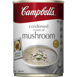 Photo of Campbells Condensed Cream Of Mushroom Soup 420g
