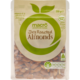 Photo of Macro Almond Dry Roasted 250g