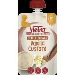 Photo of Heinz® Little Treats Vanilla Custard Baby Food Pouch 6+ Months 120g