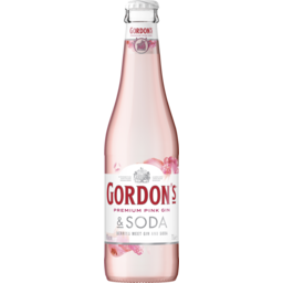 Photo of Gordon's Pink Gin & Soda Bottle