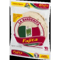 Photo of La Banderita Fajitas Flour Tortillas - 10 Pack