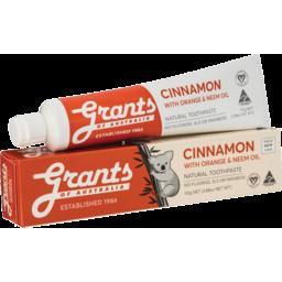 Photo of Grants Toothpaste - Cinnamon 110g