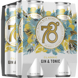 Photo of 78 Degrees Classic Gin & Tonic Can