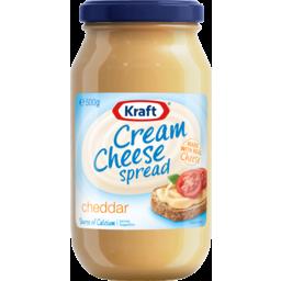 Photo of Kraft Cream Cheese Spread Cheddar 500gm