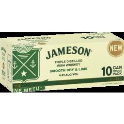 Photo of Jameson Triple Distilled Irish Whiskey Smooth Dry & Lime 10x375ml