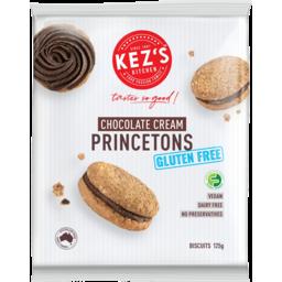Photo of Kezs Kitchen Gluten Free & Dairy Free Chocolate Cream Princeton Biscuits 125g