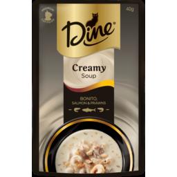 Photo of Dine Cat Food Bonito Salmon & Prawns Creamy Soup 40g