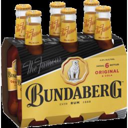 Photo of Bundaberg Rum & Cola 345ml 6 Pack