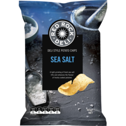 Photo of Red Rock Deli Chips Sea Salt 165g