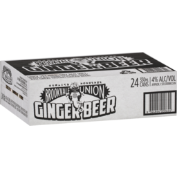 Photo of Brookvale Union Ginger Beer 24 Pack 330ml Carton