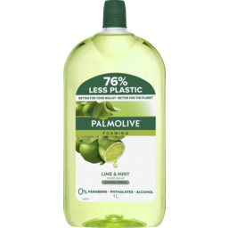 Photo of Palmolive Foaming Antibacterial Hand Wash Soap Lime & Mint Refill & Save 0% Parabens Recyclable 1l