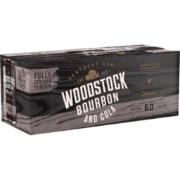 Photo of Woodstock Bourbon & Cola 6.0% Cans