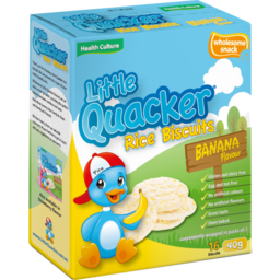 Photo of Health Culture Little Quacker Banana Flavour Rice Biscuits 16 Pack 40g