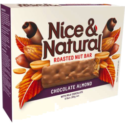 Photo of Nice & Natural Roasted Nut Bar Chocolate Almond 180g 6pk