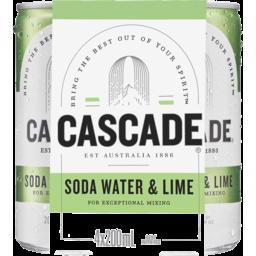 Photo of Cascade Lime & Soda Can 200ml 4pk
