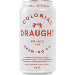 Photo of Colonial Brewing Co. Draught Kolsch Ale Cans