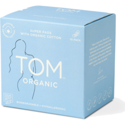 Photo of Tom Organic Pads - Super with Wings 10 Pack