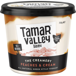 Photo of Tamar Valley Dairy Peaches & Cream Yoghurt 700g
