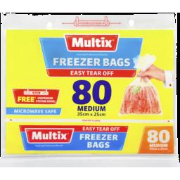 Photo of Multix Freezer Bags Medium 80 Pack