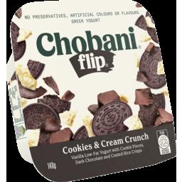 Photo of Chobani Flip Greek Yogurt Cookies And Cream Crunch 140g