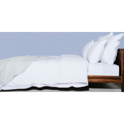 Photo of Ecolinen Quilt Cover Set - Double/King Single (White)