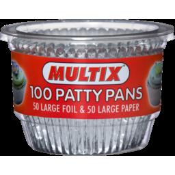 Photo of Multix Patty Pans Foil & Paper 100 Pack