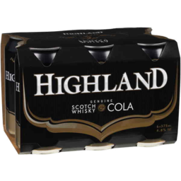 Photo of Highland Scotch 4.8% & Cola Cans