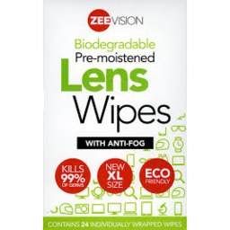 Photo of Zeevision Lens Wipes 24pk