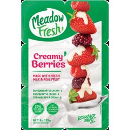 Photo of Meadow Fresh Creamy Berries Yoghurt 6 Pack