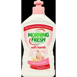 Photo of Morning Fresh Dishwashing Liquid Soft Hands Vanilla Rose 350ml
