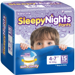Photo of Babylove Sleepynights 4-7yrs 15pk