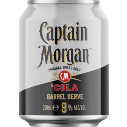 Photo of Captain Morgan & Cola 9% Cans - 24 X 250ml