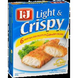 Photo of I&J Light & Cripsy Lemon Fish Fillets 425gm
