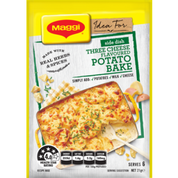 Photo of Maggi Side Dish Three Cheese Potato Bake 21gm