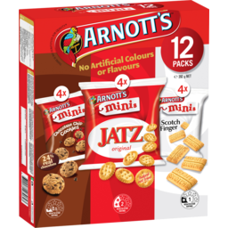 Photo of Arnott's Minis Variety Biscuits 12 Pack 292g