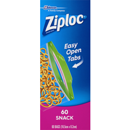 Photo of Ziploc Snack Bag 60s